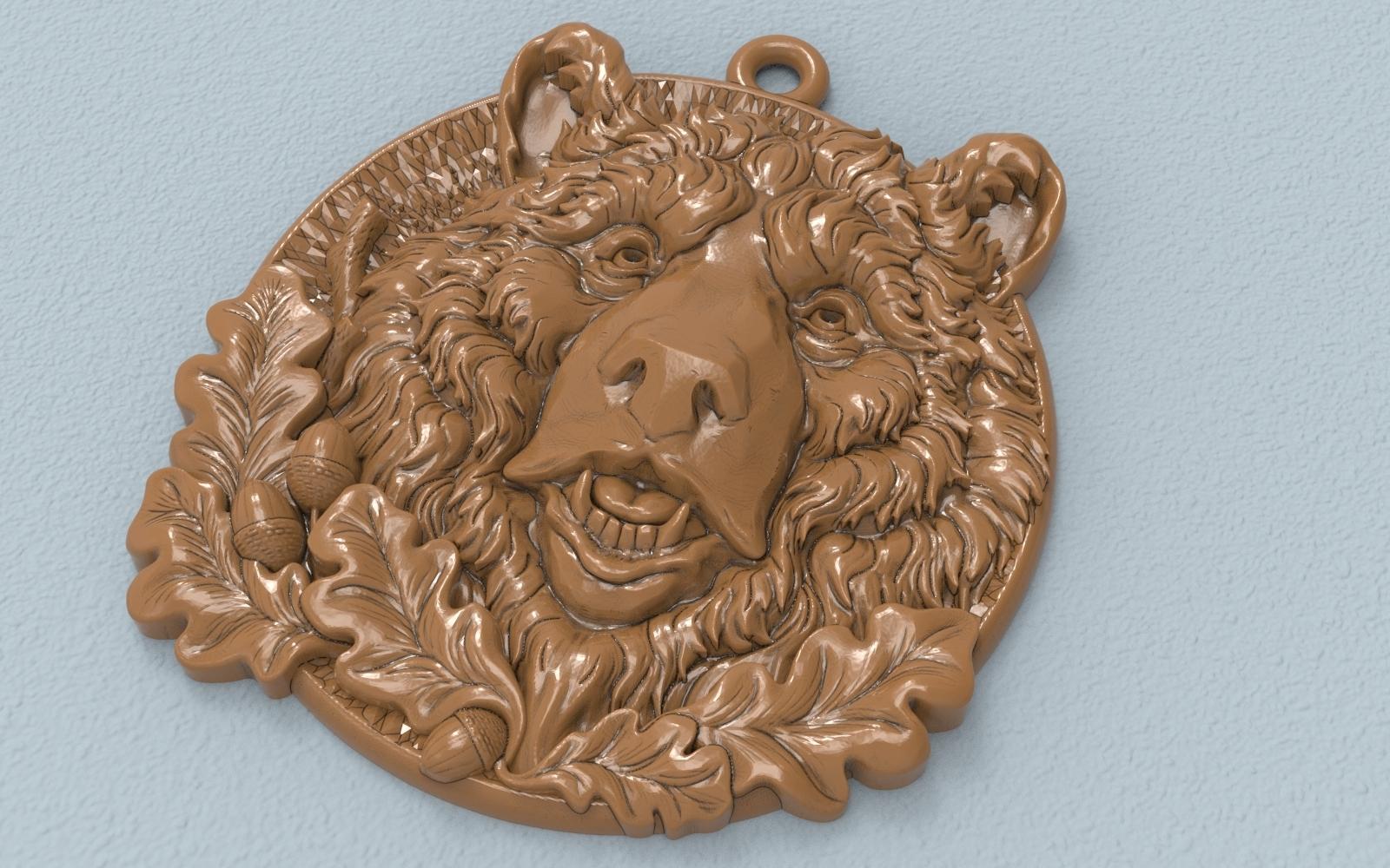 1.jpg Télécharger fichier STL gratuit Pendentif tête d'ours médaillon bijouterie modèle d'impression 3D • Modèle pour impression 3D, Cadagency