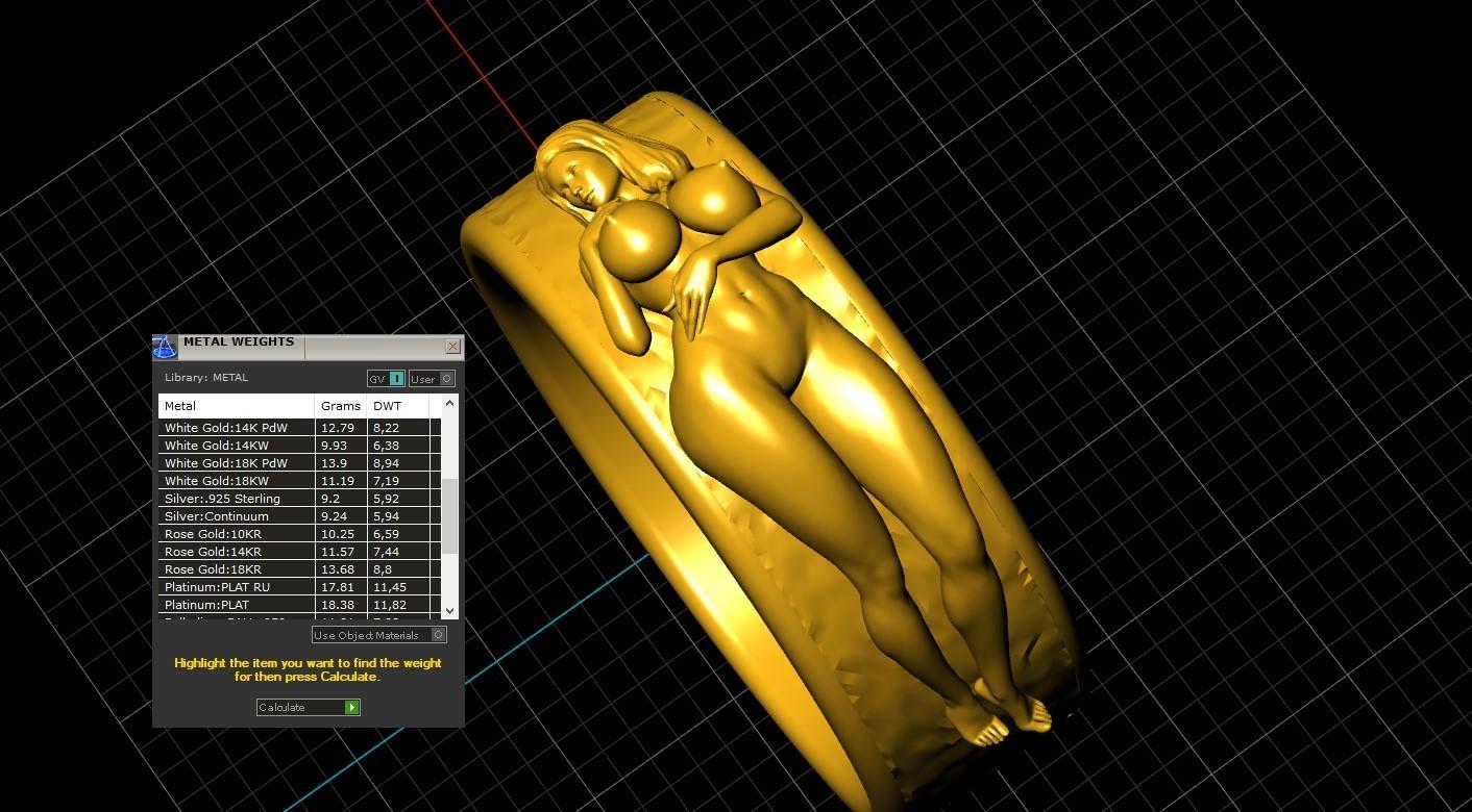 4.jpg Télécharger fichier STL gratuit Belle fille sexy bague fille bijoux homme bague • Design pour impression 3D, Cadagency