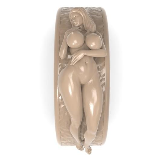 3.jpg Télécharger fichier STL gratuit Belle fille sexy bague fille bijoux homme bague • Design pour impression 3D, Cadagency