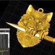 Télécharger fichier STL gratuit Couteau-loup épée pendentif médaillon bijoux modèle d'impression 3D • Modèle pour imprimante 3D, Cadagency