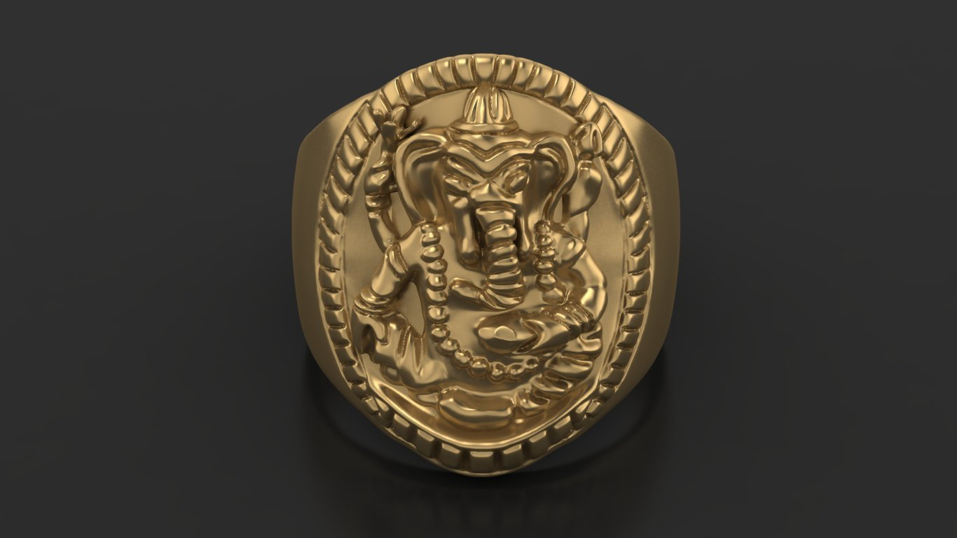 4.jpg Download free STL file Elephant ring Jewelry 3D print model • 3D printing template, Cadagency