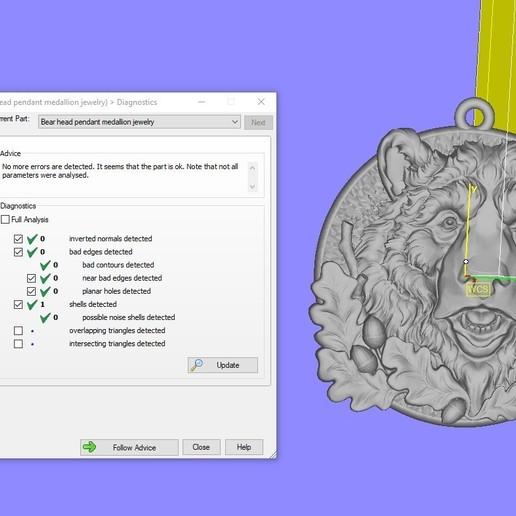 Screenshot_4.jpg Télécharger fichier STL gratuit Pendentif tête d'ours médaillon bijouterie modèle d'impression 3D • Modèle pour impression 3D, Cadagency