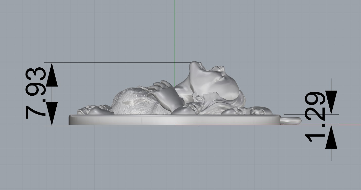 Screenshot_3.jpg Download free STL file Girl head with skulls pendant medallion jewelry 3D print model • 3D printing template, Cadagency