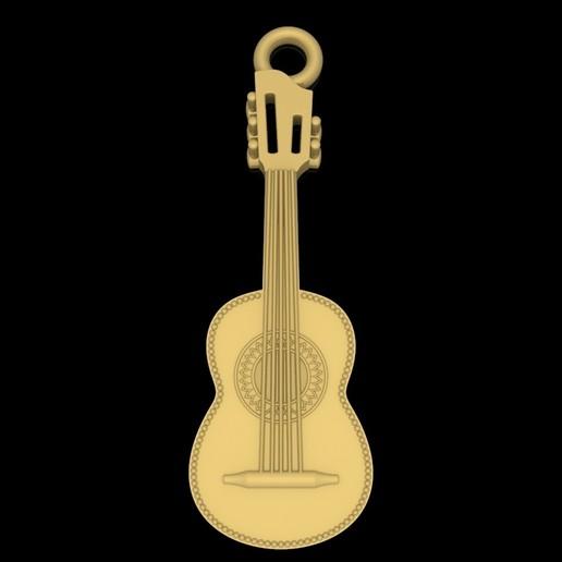 Télécharger fichier STL gratuit Guitare pendentif musique bijoux modèle 3D d'impression • Objet à imprimer en 3D, Cadagency