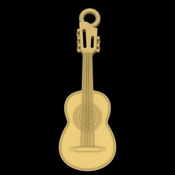 Download free STL file Guitar pendant music jewelry 3D print model • 3D printable object, Cadagency