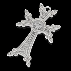 Download free STL file Christian cross pendant church pray jewelry 3D print model • 3D print design, Cadagency