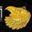 Télécharger fichier STL gratuit Pendentif aigle Médaillon de bijouterie Modèle d'impression 3D • Objet pour imprimante 3D, Cadagency