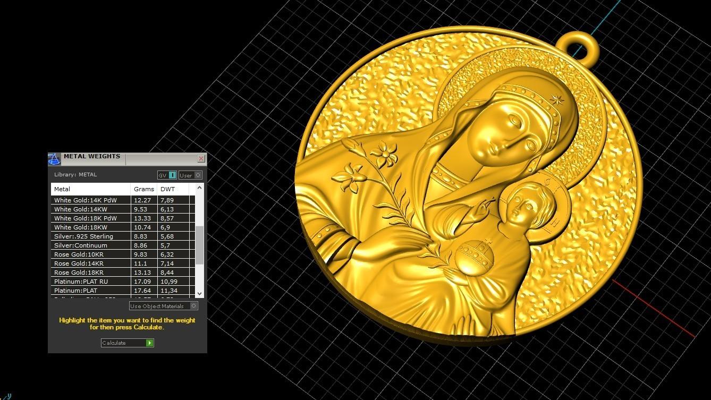 3.jpg Télécharger fichier OBJ gratuit Mère Marie avec Jésus Christ Saint pendentif bijoux chrétiens modèle d'impression 3D • Plan imprimable en 3D, Cadagency