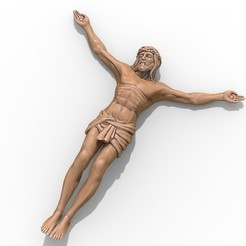 1.jpg Download free STL file Jesus pendant jewelry cross pray christian 3D print model • 3D printing model, Cadagency