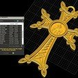 Télécharger fichier STL gratuit Croix chrétienne pendentif église prier bijoux modèle d'impression 3D, Cadagency