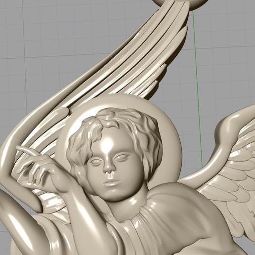 Screenshot_17.jpg Download free OBJ file Baby angel pendant  jewelry • 3D print design, Cadagency