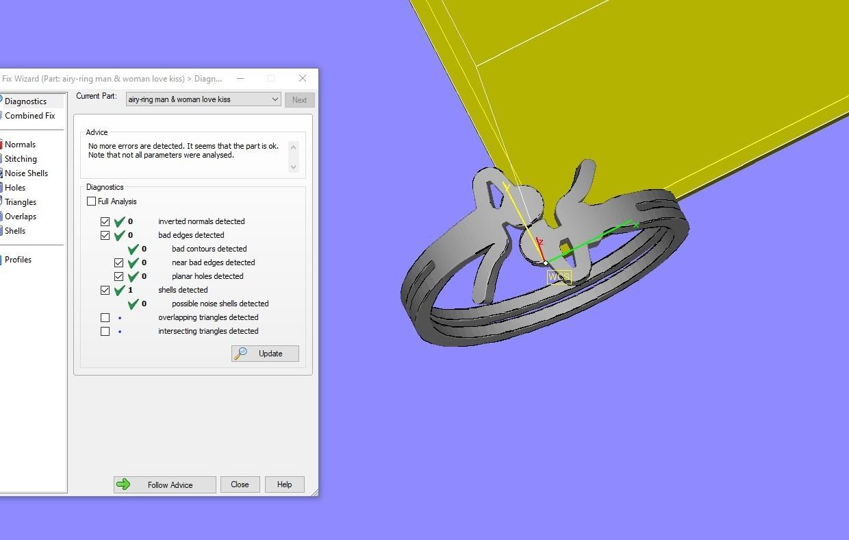 mg.jpg Télécharger fichier OBJ gratuit airy-ring man & woman love kiss • Design imprimable en 3D, Cadagency