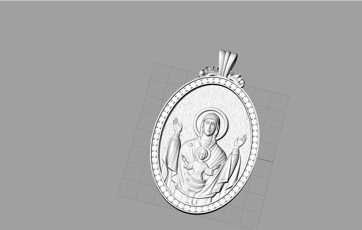 Screenshot_8.jpg Download free OBJ file Mother mery and jesus pendant medalion jewelry • 3D printable object, Cadagency