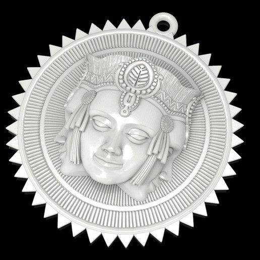 1.jpg Download free STL file Brahma pendant jewelry medallion • 3D printable design, Cadagency