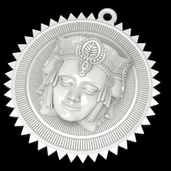 Download free STL file Brahma pendant jewelry medallion • 3D printable design, Cadagency