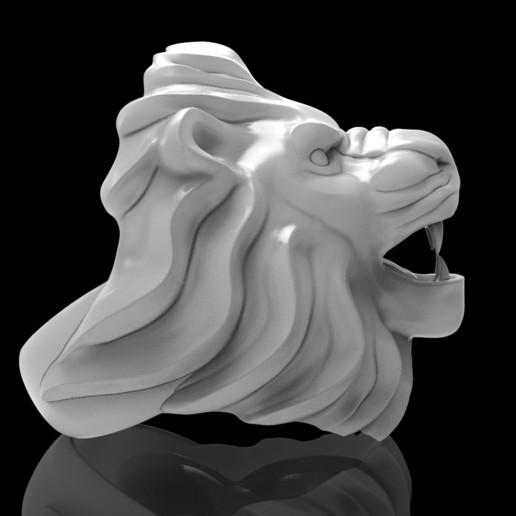 untitled.49.jpg Télécharger fichier STL gratuit Bague de lion Bijoux d'homme • Modèle pour imprimante 3D, Cadagency