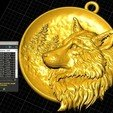 Download free 3D model Wolf pendant medallion jewelry 3D print model, Cadagency