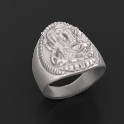 Download free STL file Elephant ring Jewelry 3D print model • 3D printing template, Cadagency