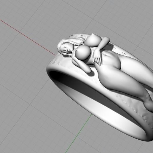 Screenshot_5.jpg Télécharger fichier STL gratuit Belle fille sexy bague fille bijoux homme bague • Design pour impression 3D, Cadagency