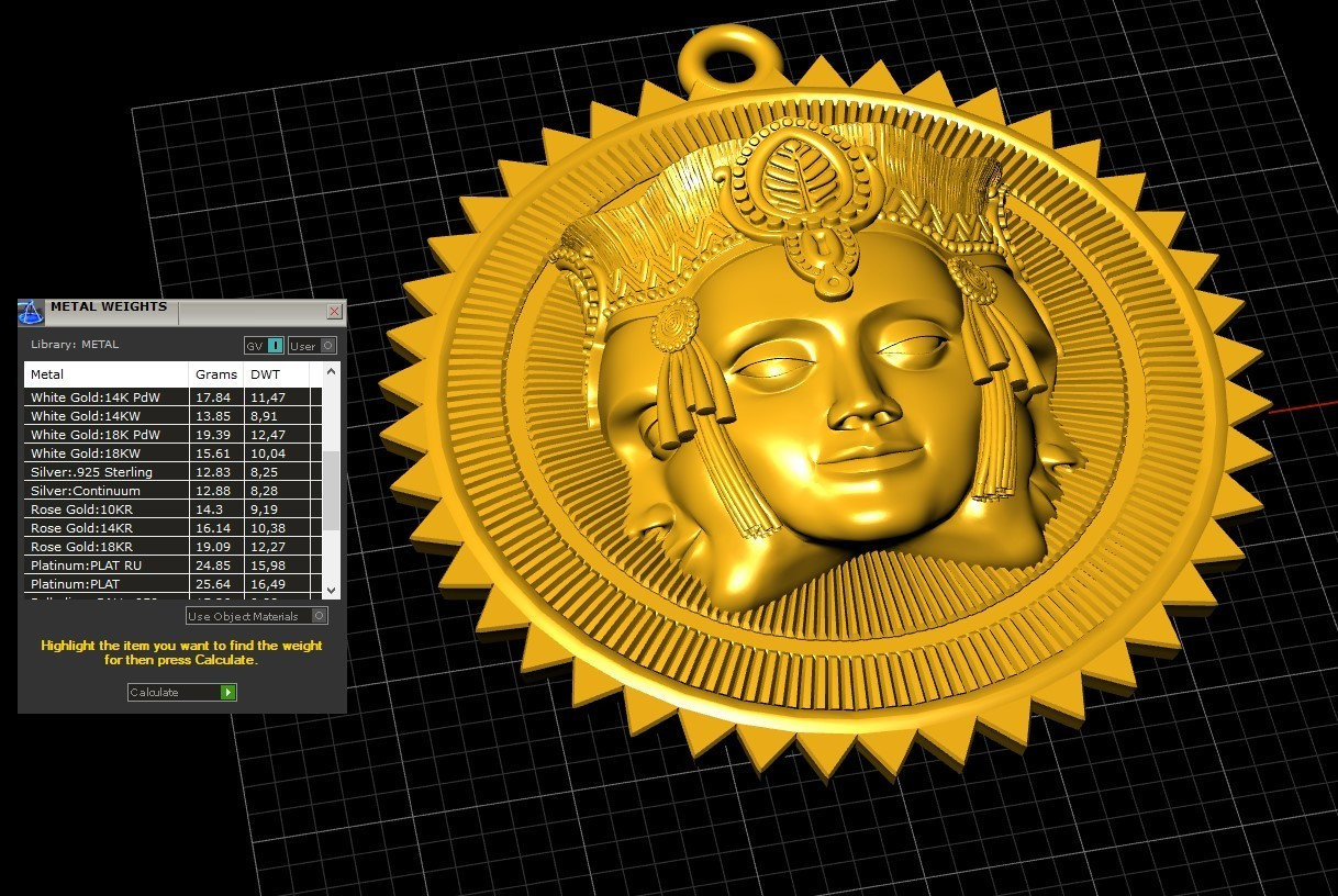 Screenshot_2.jpg Download free STL file Brahma pendant jewelry medallion • 3D printable design, Cadagency