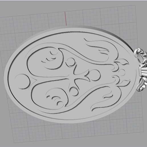 Screenshot_6.jpg Download free OBJ file Mother mery and jesus pendant medalion jewelry • 3D printable object, Cadagency