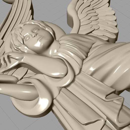 Screenshot_18.jpg Download free OBJ file Baby angel pendant  jewelry • 3D print design, Cadagency