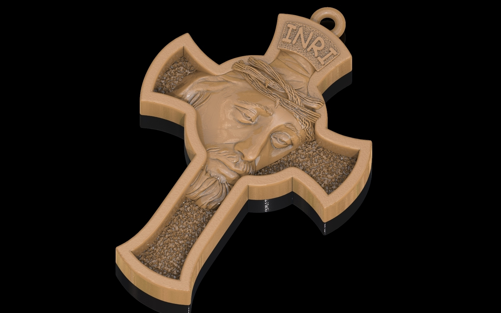 3.jpg Download free STL file Jesus Cross pendant medallion jewelry 3D print model • 3D printable object, Cadagency
