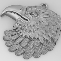 Download free 3D printing templates Eagle pendant Jewelry medallion 3D print model, Cadagency