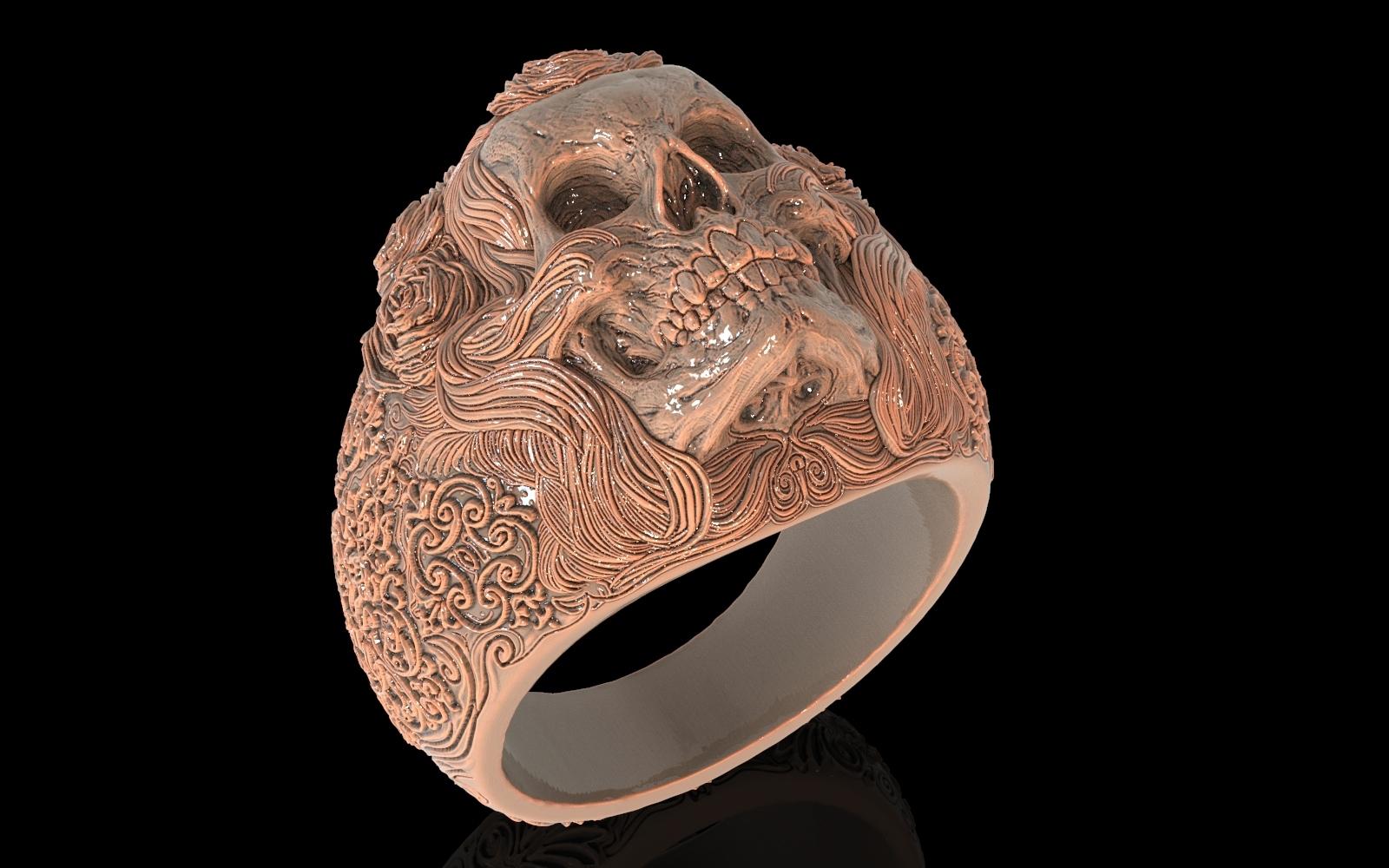2.jpg Download free STL file Skull ring jewelry skeleton ring 3D print model • 3D print object, Cadagency