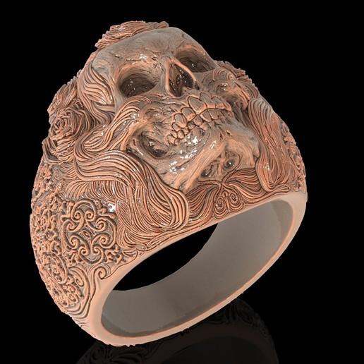 2.jpg Télécharger fichier STL gratuit Bague crâne bijoux bague squelette modèle d'impression 3D • Plan pour imprimante 3D, Cadagency