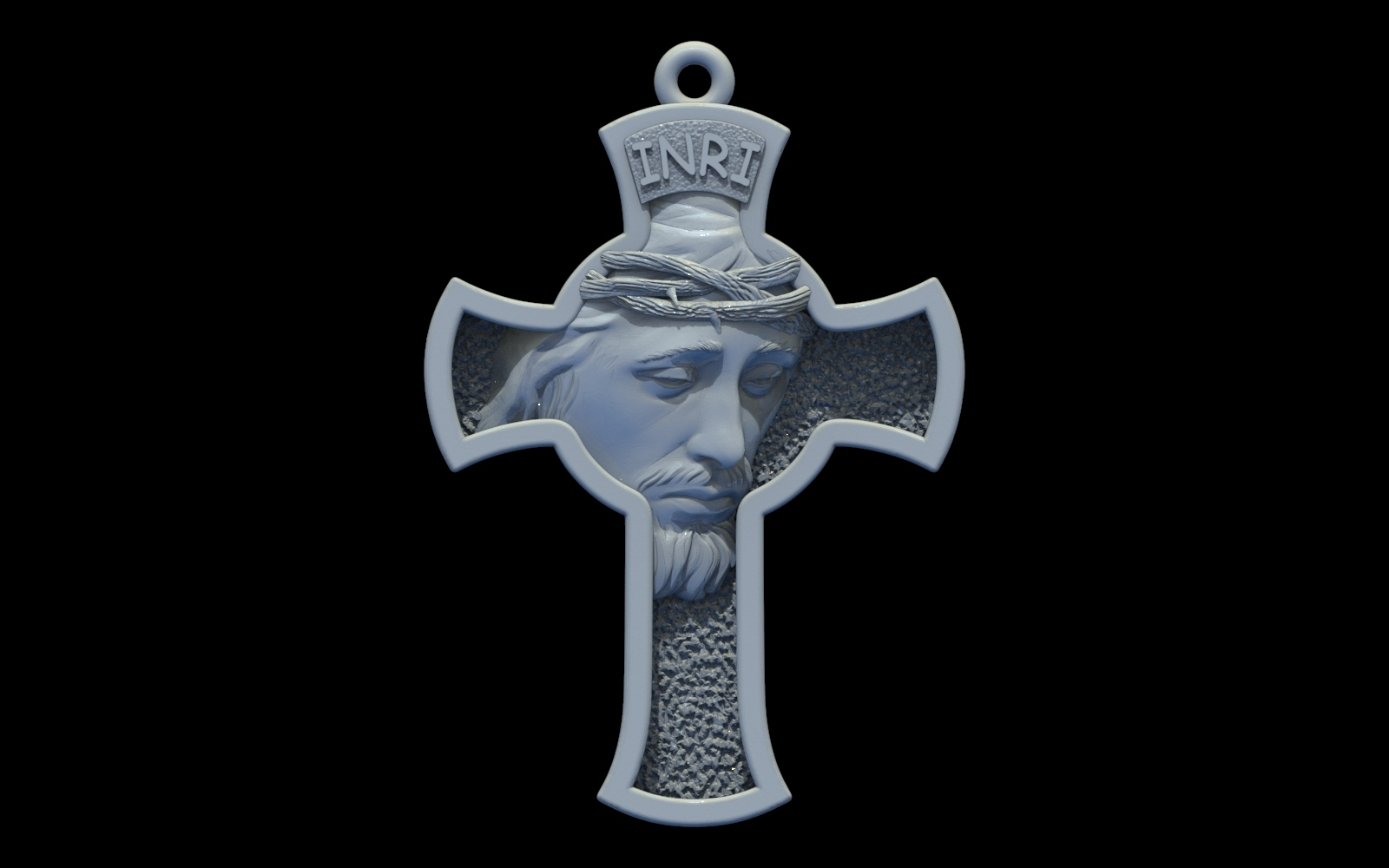 1.jpg Download free STL file Jesus Cross pendant medallion jewelry 3D print model • 3D printable object, Cadagency