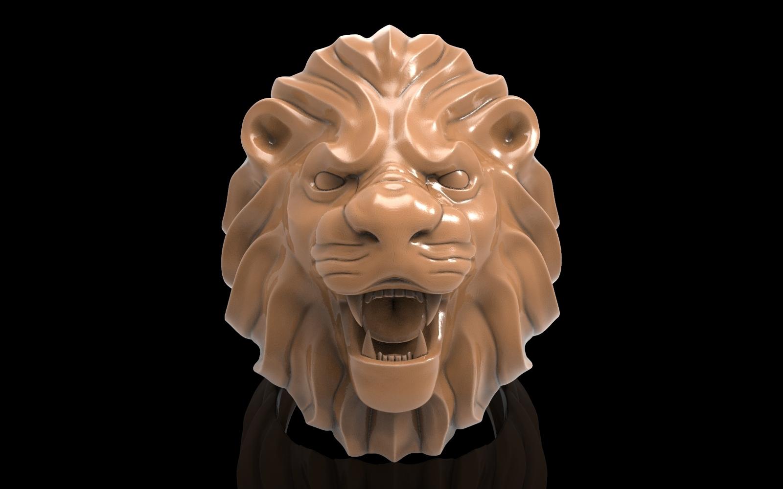 untitled.48.jpg Télécharger fichier STL gratuit Bague de lion Bijoux d'homme • Modèle pour imprimante 3D, Cadagency