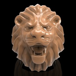Download free STL file Lion ring man ring jewelry • 3D print model, Cadagency