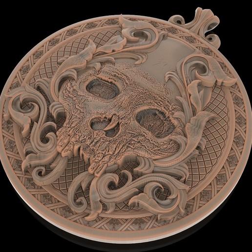 3.jpg Télécharger fichier STL gratuit Pendentif crâne Médaillon de bijouterie Modèle d'impression 3D • Plan pour impression 3D, Cadagency