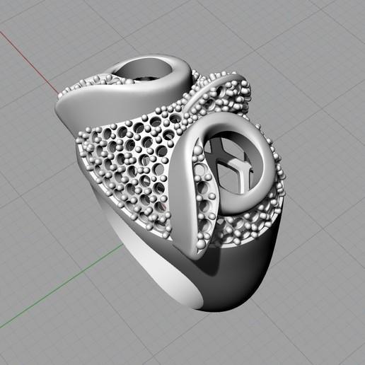 Screenshot_6.jpg Télécharger fichier STL gratuit Bague hibou bague bijou avec pierres Modèle d'impression 3D • Plan pour impression 3D, Cadagency