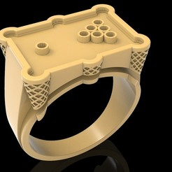 Download free 3D printing files Billiard ring jewelry ring 3D print model, Cadagency