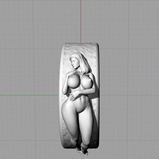 Screenshot_8.jpg Télécharger fichier STL gratuit Belle fille sexy bague fille bijoux homme bague • Design pour impression 3D, Cadagency