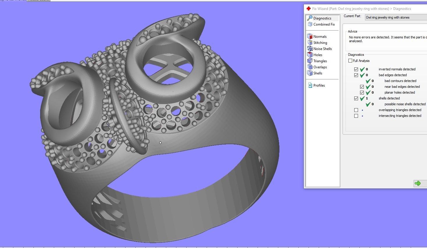 4.jpg Télécharger fichier STL gratuit Bague hibou bague bijou avec pierres Modèle d'impression 3D • Plan pour impression 3D, Cadagency
