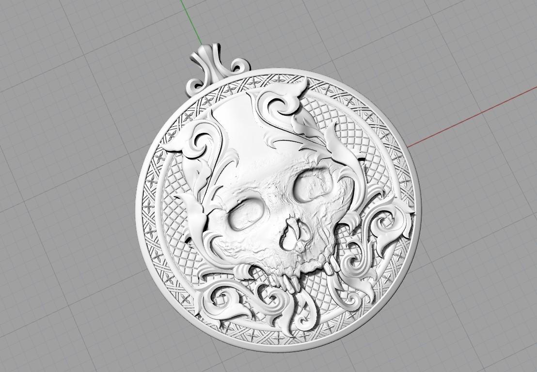 Screenshot_4.jpg Télécharger fichier STL gratuit Pendentif crâne Médaillon de bijouterie Modèle d'impression 3D • Plan pour impression 3D, Cadagency