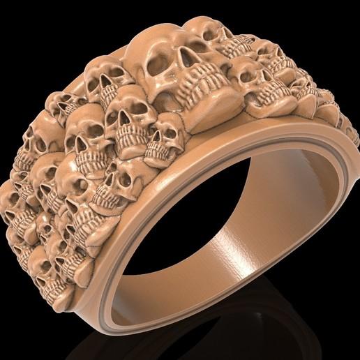 Télécharger fichier STL gratuit Bague crâne squelette bijou de bague modèle d'impression 3D • Plan imprimable en 3D, Cadagency