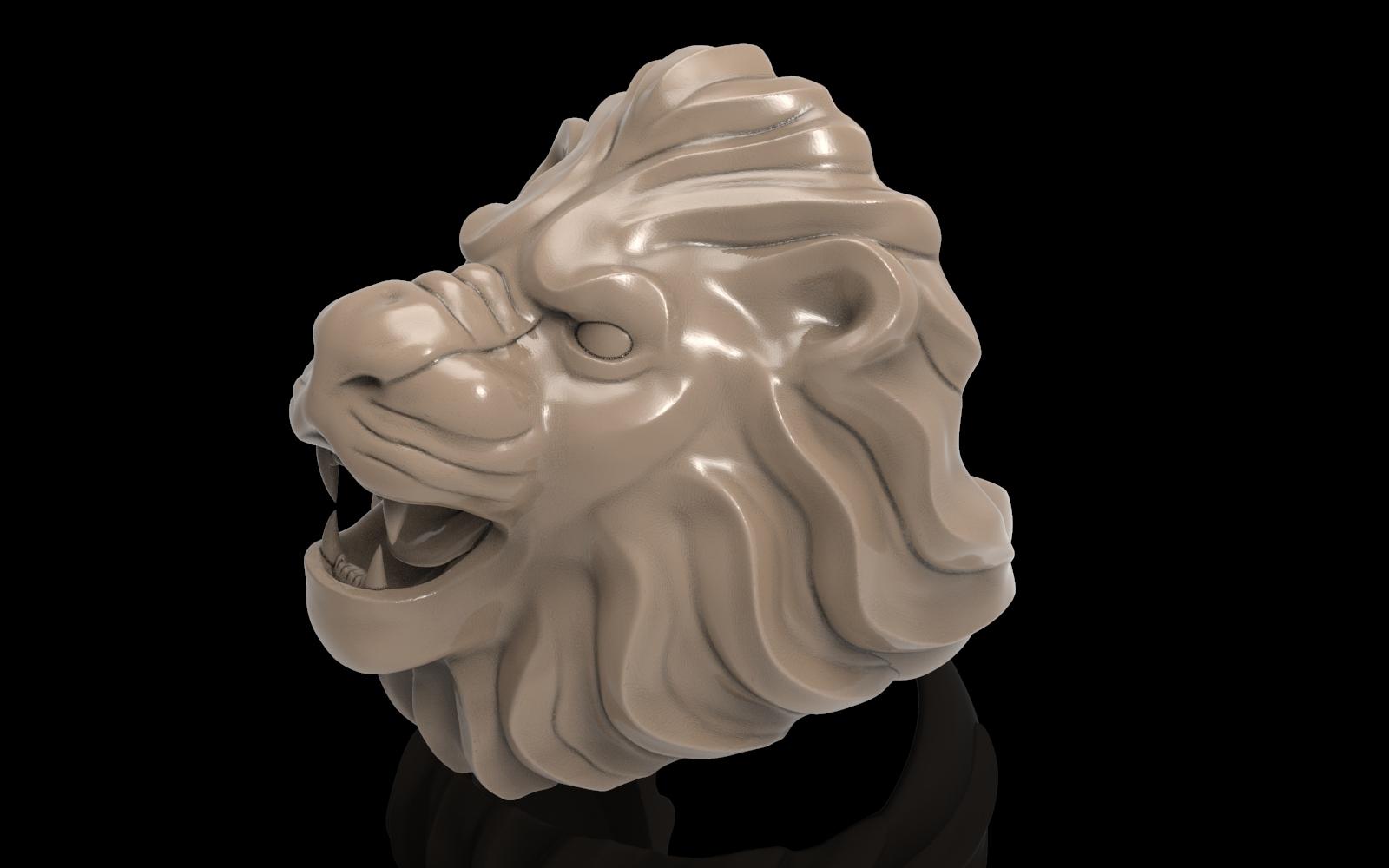 untitled.47.jpg Télécharger fichier STL gratuit Bague de lion Bijoux d'homme • Modèle pour imprimante 3D, Cadagency