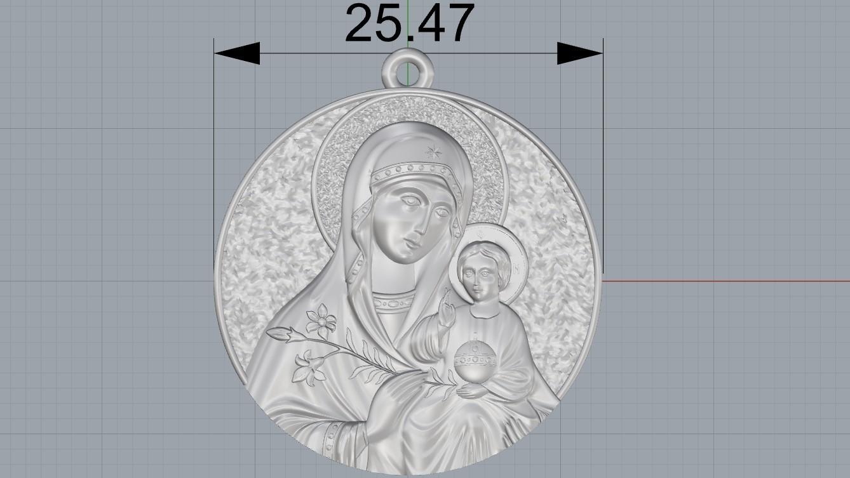 Screenshot_2.jpg Télécharger fichier OBJ gratuit Mère Marie avec Jésus Christ Saint pendentif bijoux chrétiens modèle d'impression 3D • Plan imprimable en 3D, Cadagency