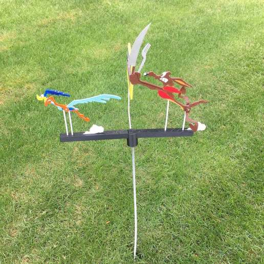 Roadrunner_3.jpg Download free STL file Roadrunner Whirligig • 3D printing model, Sparky6548