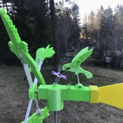 IMG_3434.JPG Download free STL file Hummingbird Whirligig • 3D printable design, Sparky6548