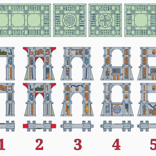 Download free STL file SM Support Pillars (61mm) • 3D print template, SevenUnited