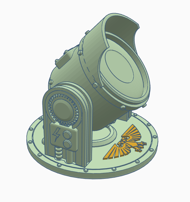 Searchlight2.PNG Download free STL file Searchlight • Template to 3D print, SevenUnited