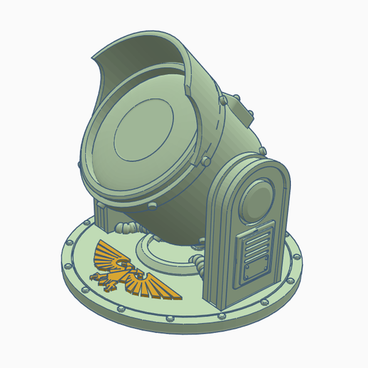 Searchlight3.PNG Download free STL file Searchlight • Template to 3D print, SevenUnited