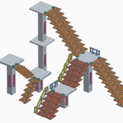 Staris3.PNG Download free STL file SM Stairs • 3D printing model, SevenUnited