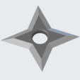 ThrowingStar.PNG Download free STL file Kunai and Ninja throwing star for Cosplay • 3D printer model, SevenUnited