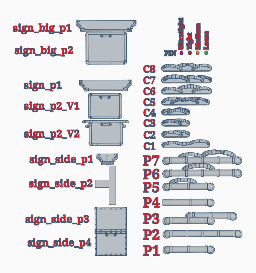 overview.PNG Download free STL file Walkway single support pillar • 3D print object, SevenUnited